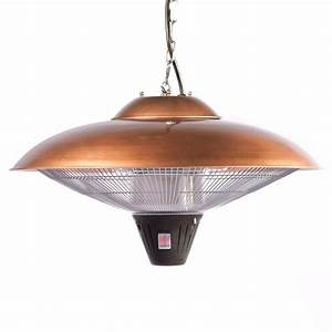Fire sense watt copper hanging halogen electric