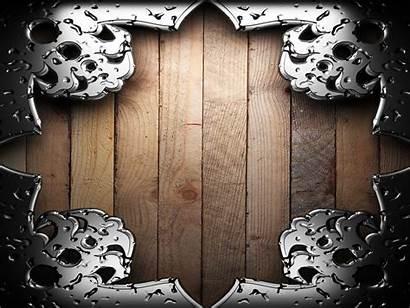 Border Metal Wood Desktop Abstract Wallpapers Backgrounds