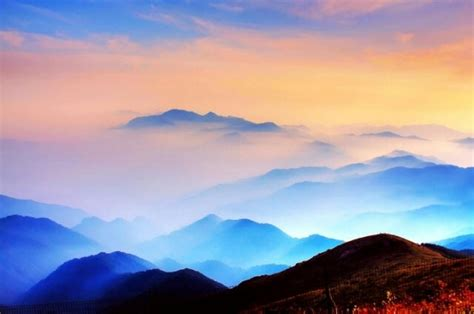 Colourful View From The Top Of The Mountain, Beijing