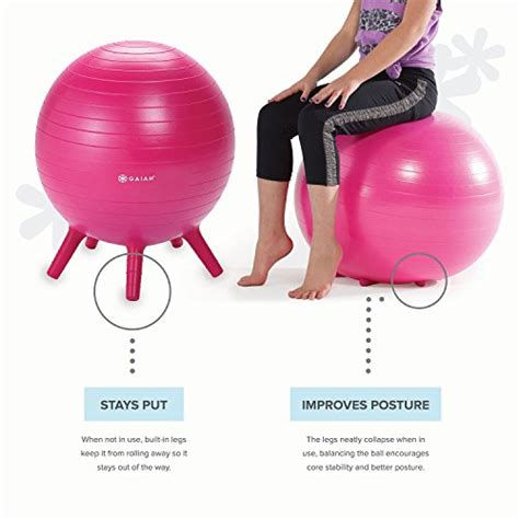 Gaiam Kids Stay-N-Play Children's Balance Ball - Flexible ...