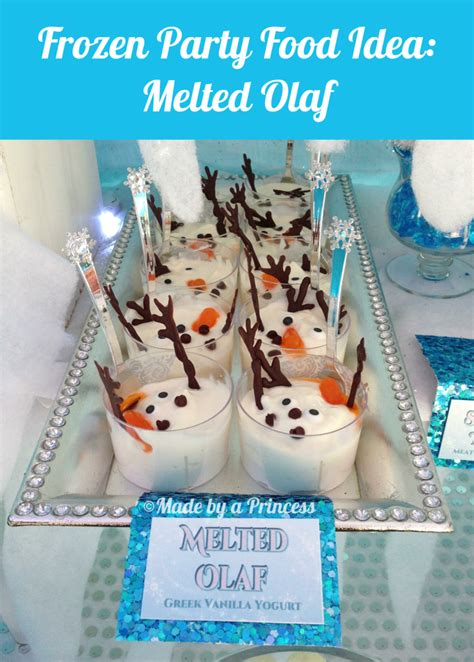 recipe  original frozen party food melted olaf