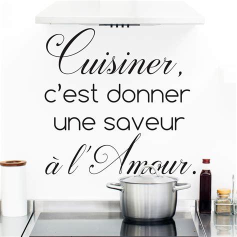 stickers texte cuisine sticker citation cuisine cuisiner c 39 est donner une saveur