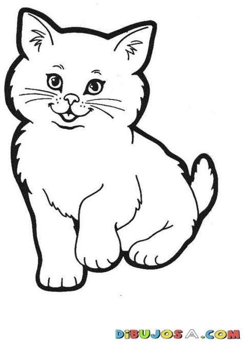 pintar gato colorear gatos dibujo de  gato