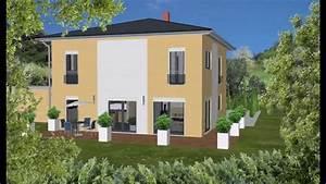 Haus Walmdach Modern : wolf haus stadtvilla villa mit walmdach zweifarbiger au enputz modern youtube ~ Indierocktalk.com Haus und Dekorationen