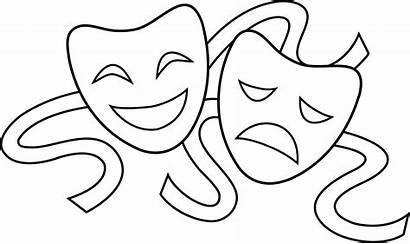 Masks Sad Happy Clipart Drama Draw Clip