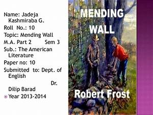 what is the theme of mending wall by robert frost
