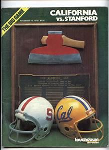 1978 Cal Vs Stanford Big Game Football Program