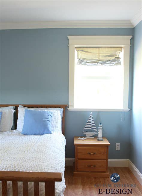 Best Benjamin Moore blue paint colour Mountain Air Guest