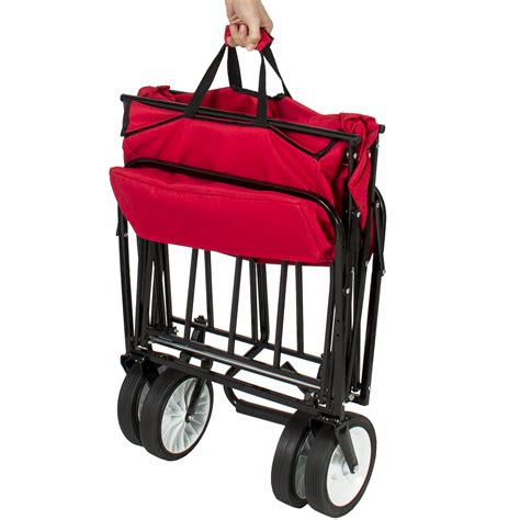 wagon with canopy folding wagon w canopy garden utility travel collapsible