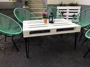 Tisch Mit Stühlen : gartentisch aus paletten selber bauen foodloose ~ Orissabook.com Haus und Dekorationen