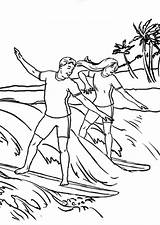 Coloring Surfing Pages Popular sketch template