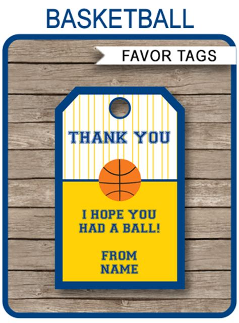 navy blue and yellow gold basketball thank you tags