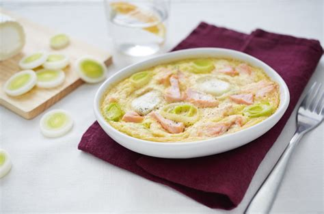 recettes de cuisine avec le vert du poireau flan au saumon poireau et chèvre quot la cuisine de