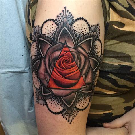 nick dangelo  twitter rose  mandala tattoo