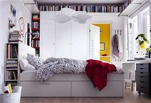 Lit Chez Ikea : t te de lit avec rangement gain de place et d coration ~ Teatrodelosmanantiales.com Idées de Décoration