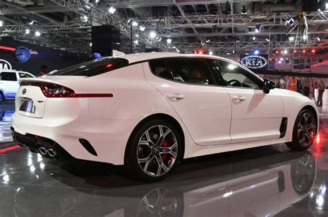 Kia Stinger Sports Sedan Showcased At Auto Expo 2018