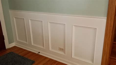 Wainscoting Frames For Wall by How To Make A Recessed Wainscoting Wall From Scratch