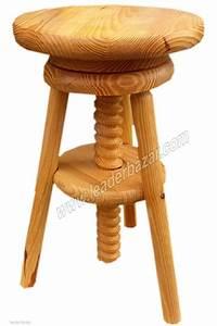Tabouret Rondin De Bois : tabouret bois vis hauteur ajustable rangement mobilier ~ Teatrodelosmanantiales.com Idées de Décoration