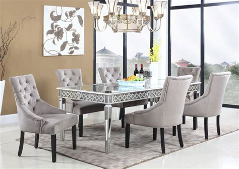 extendable glass dining room table mirrored dining table