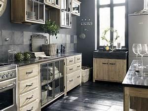 Meuble Bois Et Noir : cuisine noir c 39 est noir la tendance qui monte joli place ~ Dailycaller-alerts.com Idées de Décoration