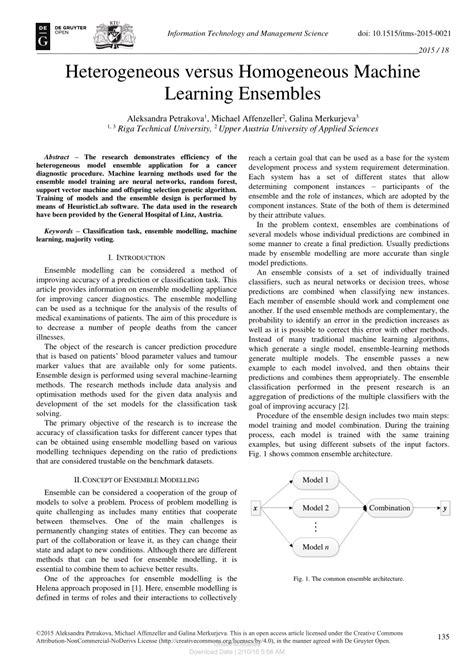 (PDF) Heterogeneous versus Homogeneous Machine Learning