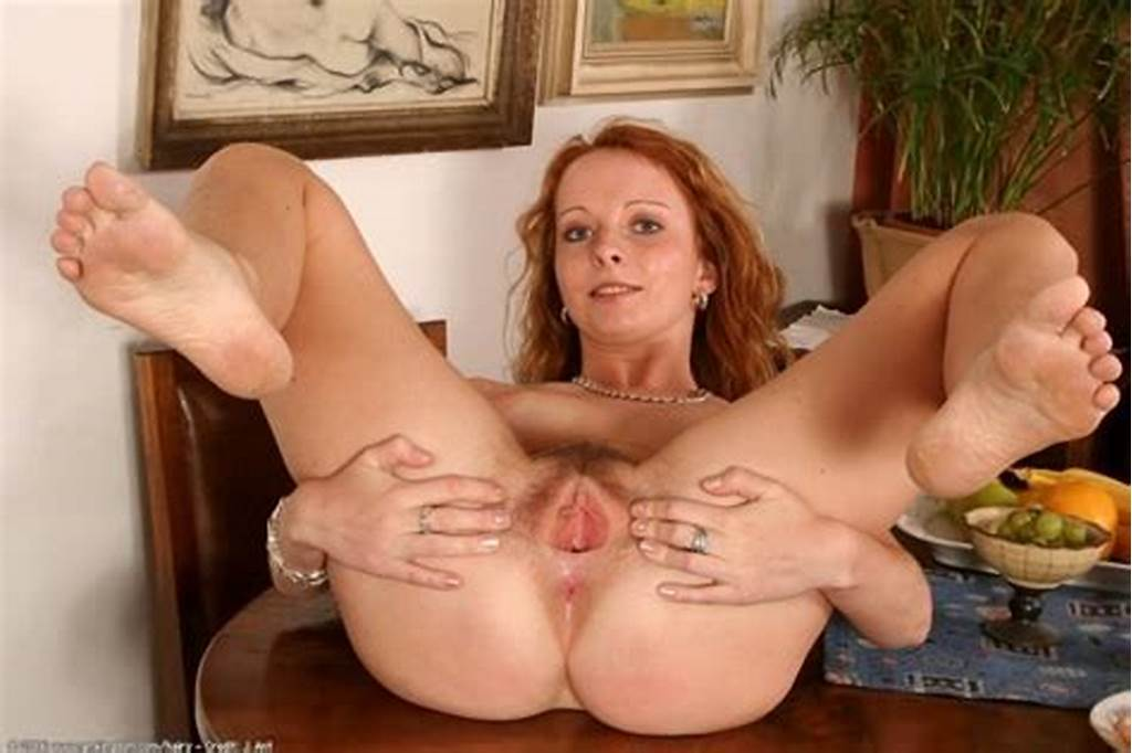 #Very #Hairy #Redhead #Spreading #Furry #Red #Pussy #Up #Close