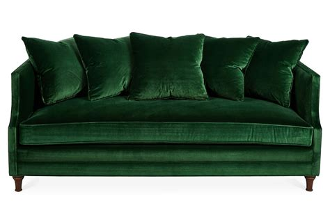 west elm mid century green tufted sofa high end furnishings green leather