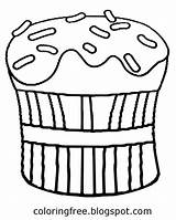 Coloring Drawing Butter Peanut Pages Pastry Cupcake Sketch Clipart Teenagers Chocolate Printable Baking Sheet Getdrawings Template sketch template