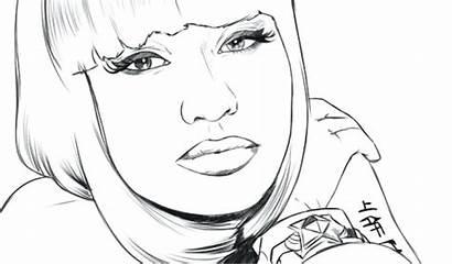 Coloring Pages Nicki Minaj Faces Face Printable