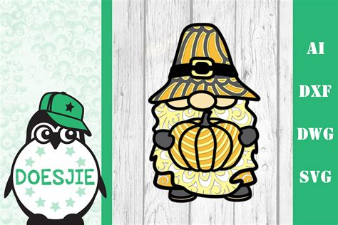 Open the svg file in cricut design space or your machine's software and. Gnome Thanksgiving SVG 3d layered mandala pumpkin ...