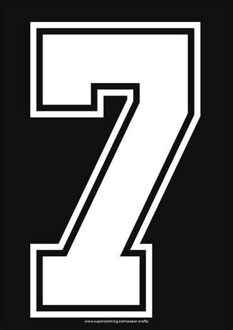white football shirt number  template  printable