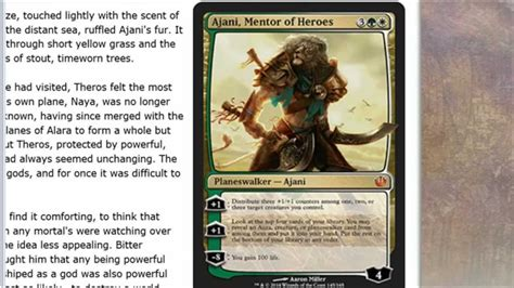 ajani mentor of heroes deck ideas journey into nyx spoilers ajani mentor of heroes