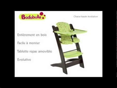 chaise haute évolutive badabulle vidéo ukeez tv chaise haute évolutive badabulle