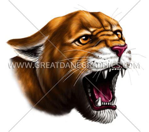cougar production ready artwork   shirt printing