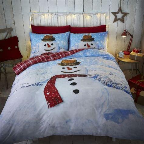 snowman reversible tartan duvet cover set tonys textiles