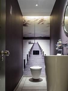 45 luxurious powder room decorating ideas With carrelage adhesif salle de bain avec led panels uk