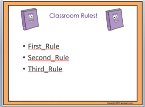 classroom rules template powerpoint template classroom rules abcteach