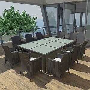 Gartenmöbel Set 8 Personen : der gartenm bel set aus polyrattan f r 10 personen schwarz ~ Michelbontemps.com Haus und Dekorationen