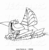 Catamaran Toonaday Nautical sketch template
