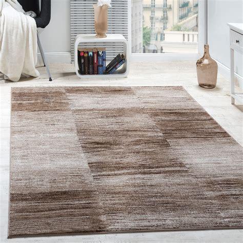 wohnzimmer teppich karo meliert braun beige teppichde