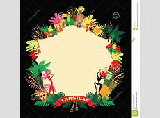 Brazilian Carnival Vector Colorful Background Stock