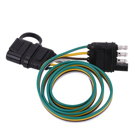 6 12 24v 4 pin flat trailer light adapter wire connector caravan auto boat 9515381458629 ebay