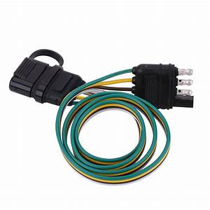 6v  12v  24v 4 Pin Flat Trailer Plug Light Socket Wire