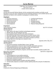 chemical operator resume templates unforgettable machine operator resume exles to stand out myperfectresume