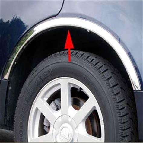 cadillac srx chrome wheel  fender trim