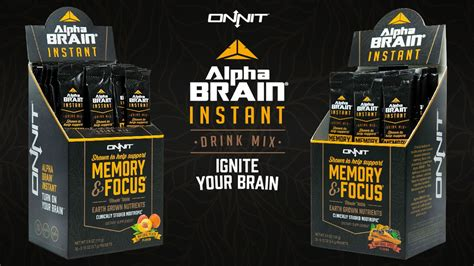 New Alpha Brain Instant Drink Mix! Ignite Your Brain