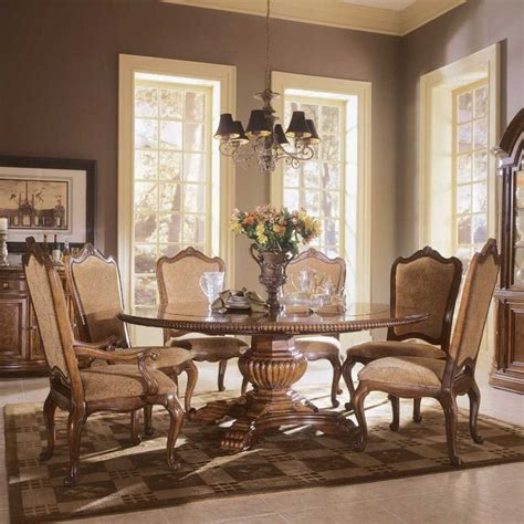 round formal dining table set big round formal dining room tables buy villa cortina