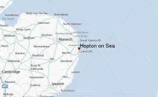 on map hopton on sea location guide