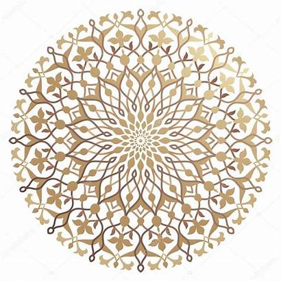 Islamic Pattern Floral Arabic Vector Round Illustration