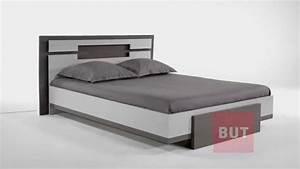 Lit But 160x200 : lit design gris taupe melissia but youtube ~ Teatrodelosmanantiales.com Idées de Décoration